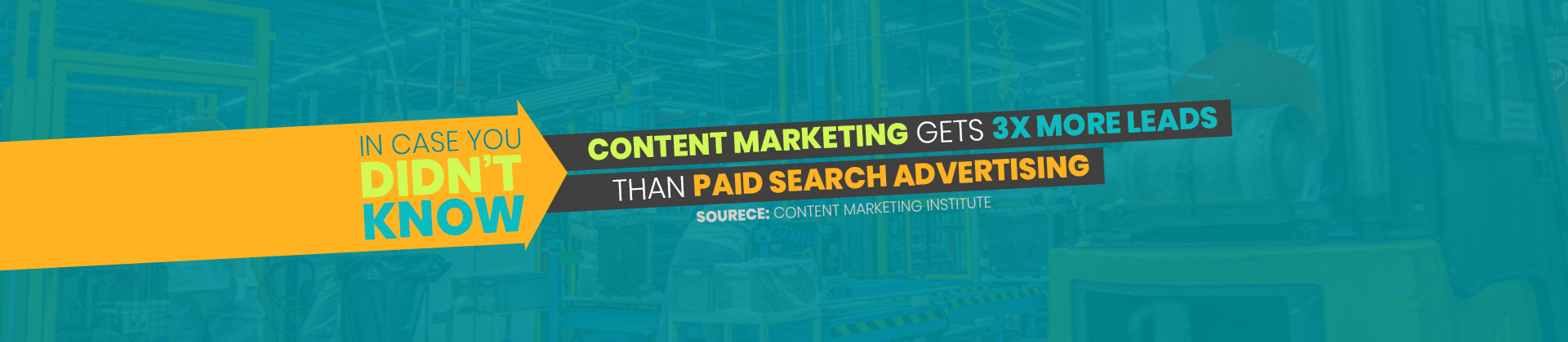 Content marketing gets 3x more leads than paid search advertising